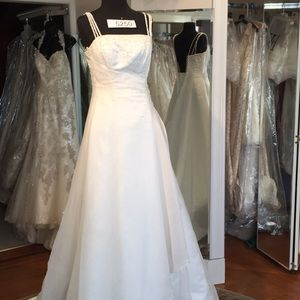 Maggie Sottero wedding gown, beaded spag straps.